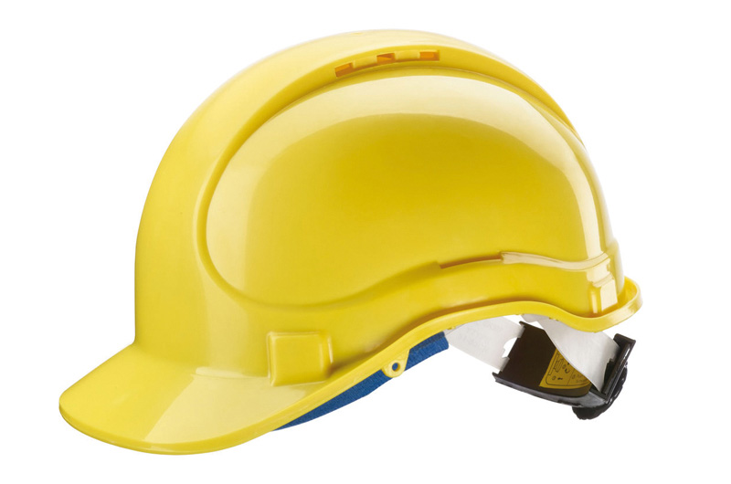 Casque chantier : jaune