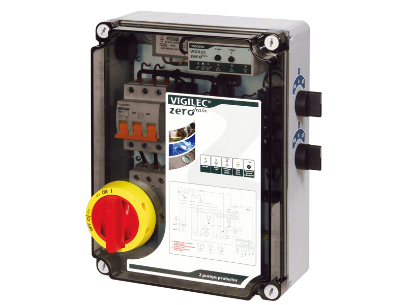 Coffret gestion pompe - Type T01NT<br><span>Bi-tension mono 230v / Tri 400v</span>